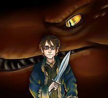 Bilbo Baggins and Smaug by Xxinnon
