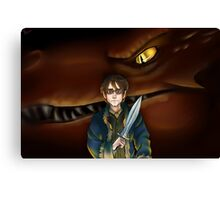 Bilbo Baggins and Smaug Canvas Print