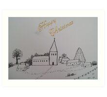 Christmas Church 1 Art Print