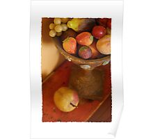Red Fruit urn Poster