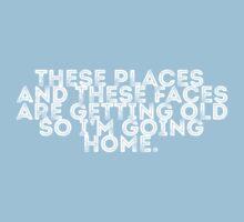 I'm Going Home (blue) Kids Tee