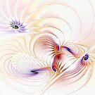 Spiral Shells Of Color by Deborah  Benoit