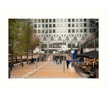 Time Check: Canary Wharf, London, UK. Art Print