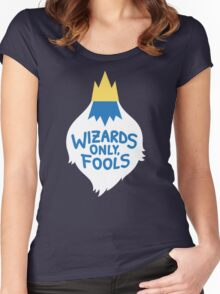 Wizards Only, Fools Women's Fitted Scoop T-Shirt
