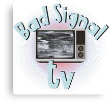 Bad signal tv Canvas Print