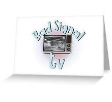 Bad signal tv Greeting Card