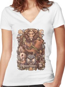 ARMELLO - Battle for the crown Women's Fitted V-Neck T-Shirt