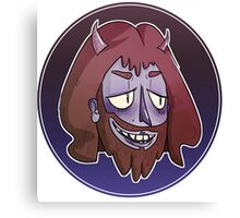 Smiley beard devil guy Canvas Print