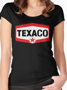 TEXACO OIL RACING VINTAGE LUBRICANT Women's Fitted Scoop T-Shirt