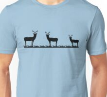 Antelope on grass silhouette Unisex T-Shirt