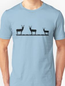 Antelope on grass silhouette T-Shirt