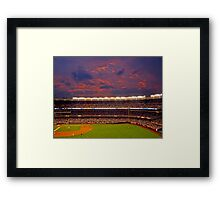 Sunset at Yankee Stadium Framed Print