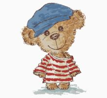 Teddy bear and clothes by Toru Sanogawa