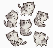 Six Impudent cats by Toru Sanogawa