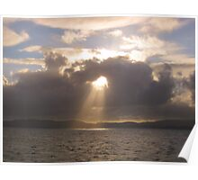 A light from above - en route to the Western Isles, Scotland Poster
