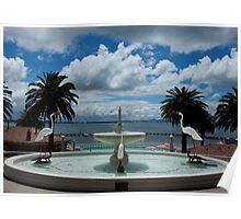 Fountain, Eastern Beach Poster