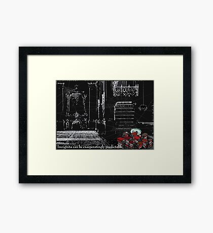 Cog has one invariable response to the challenges that life throws up... Framed Print