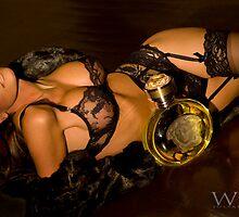 Kristian in Black with Versace by Julian Wilde