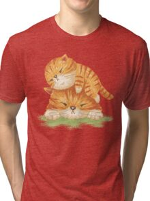 Family of tabby Tri-blend T-Shirt