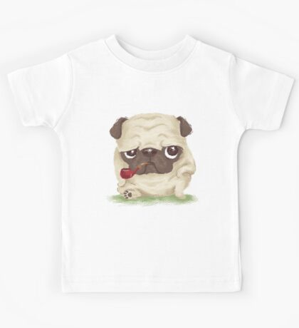 Pug which held the pipe in its mouth Kids Clothes