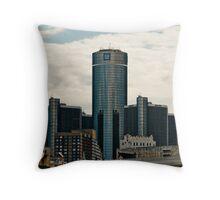 Detroit Renaisance Towers Throw Pillow