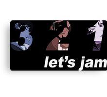 cowboy bebop 3 2 1 lets jam spike faye jet anime manga shirt Canvas Print