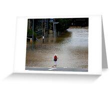 "Brisbane floods - Cultural Centre, South Brisbane or ""How do I get to my Latte!"" Greeting Card"