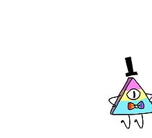 Pansexual Bill - Rainbow Bow Tie and Black Hat by clairethefaller