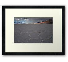 Badwater, Death Valley Rain Fall Framed Print