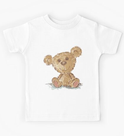 Teddy bear sitting Kids Tee