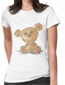 Teddy bear sitting Womens Fitted T-Shirt