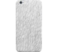Grayscale Pencil Doodle Waves iPhone Case/Skin