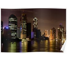 Brisbane City at Night Poster