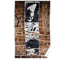 Stencil Art & Bricks - Brisbane CBD Poster
