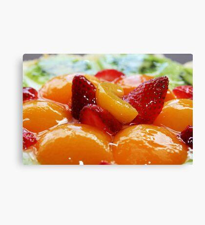 Fruit flan Canvas Print