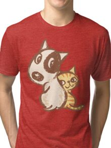 Dog and cat are turning around Tri-blend T-Shirt