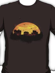 Cool Sunset - City Skyline - Cute Birds T-Shirt