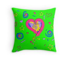 Retro-Pastel Confetti Throw Pillow