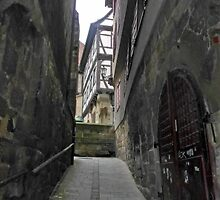Narrow Passage/Esslingen, Germany by Bine