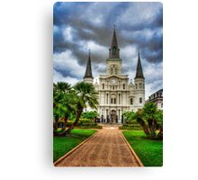 St. Louis Cathedral Jackson Square Canvas Print