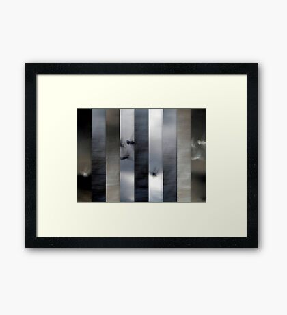 Into the Light of the Dark Black Night Framed Print
