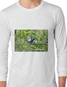 Blue Wren Family  Long Sleeve T-Shirt