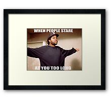 Ice Cube Dough Boy Poster Meme shirt Framed Print