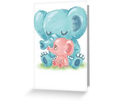 Family of elephant Greeting Card