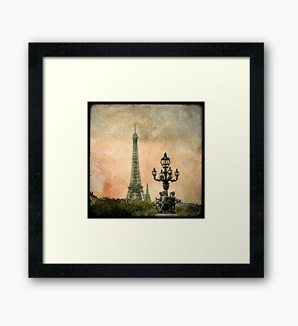 The Angels of the Eiffel Tower Framed Print
