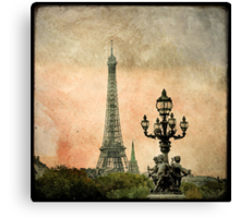 The Angels of the Eiffel Tower Canvas Print