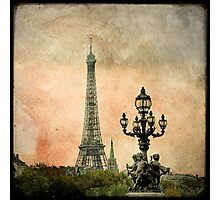 The Angels of the Eiffel Tower Photographic Print