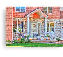 Little house front entrance Canvas Print