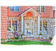 Little house front entrance Poster