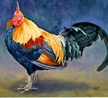 Rooster, Monet, Chicken, Barnyard Animal by Denise  Rich